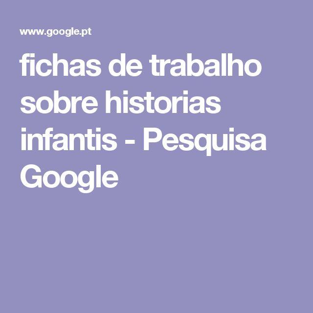 fichas de trabalho sobre historias infantis - Pesquisa Google