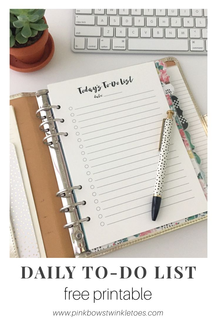 FREE Productivity Printable - Today's To-Do List print ...