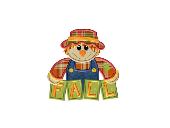 Scarecrow for Fall Applique Design  Instant by AppliqueDownload
