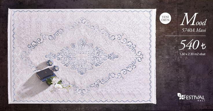 Mood'un en yeni modelleri ile yaz şıklığını evinizde yaşamaya bir adım daha yaklaşın. www.festivalhali.com #carpet #collection