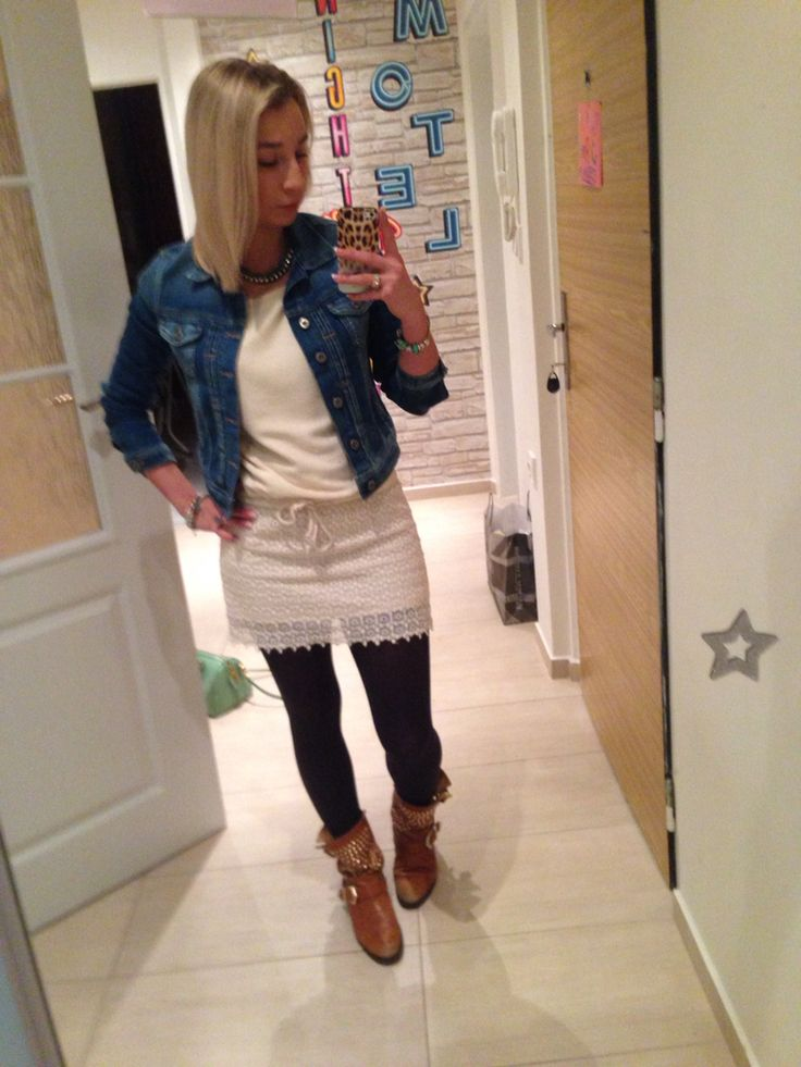 #pepejeans jeans jacket - best i ever head , cozy and warm  #zara dress and shoes