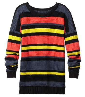 Jason Wu Striped Crochet Sweater - ShopBAZAAR