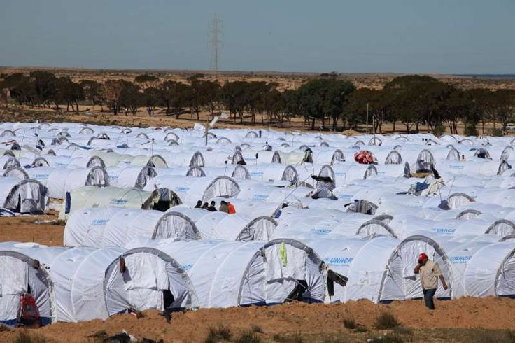 UNHCR's new camp in Ras Djir, near the Tunisian- Libyan border, can accomodate up to 10,000 people. ©UNHCR/A.Duclos