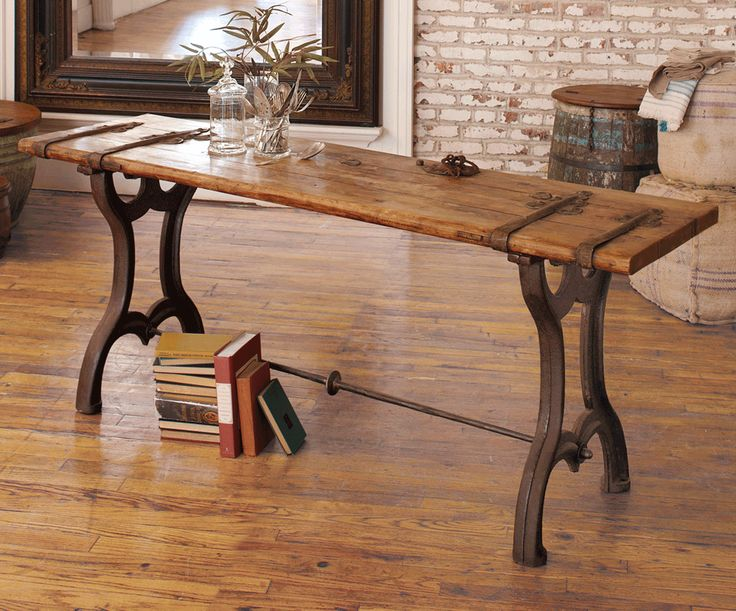 Vintage Door Console Table Could Be Used As A Desk Napa Style Furniture Desks Pinterest