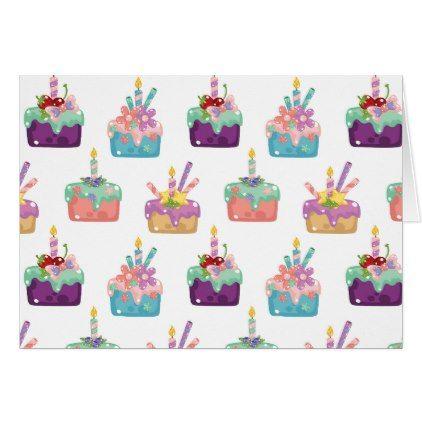 Celebration Cakes Card   Birthday Diy Gift Present Custom Ideas