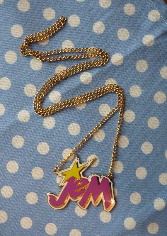 Enamel JEM & the holograms 80s Cartoon Necklace by CartoonJunk, £9.99