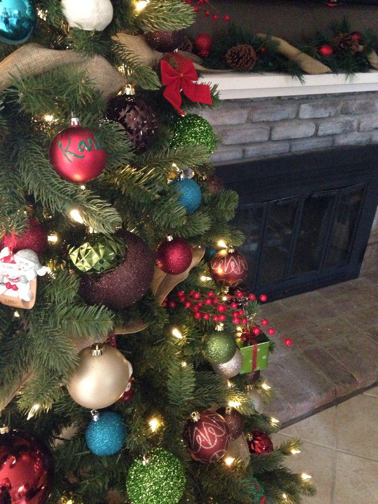 Christmas tree color scheme Christmas colors Pinterest