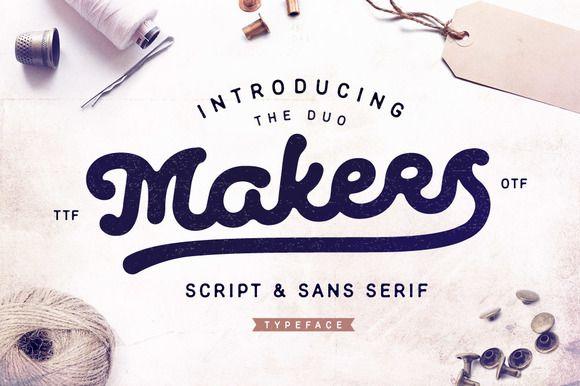 Makers Script & Sans Serif by Andrey Sharonov on @creativemarket