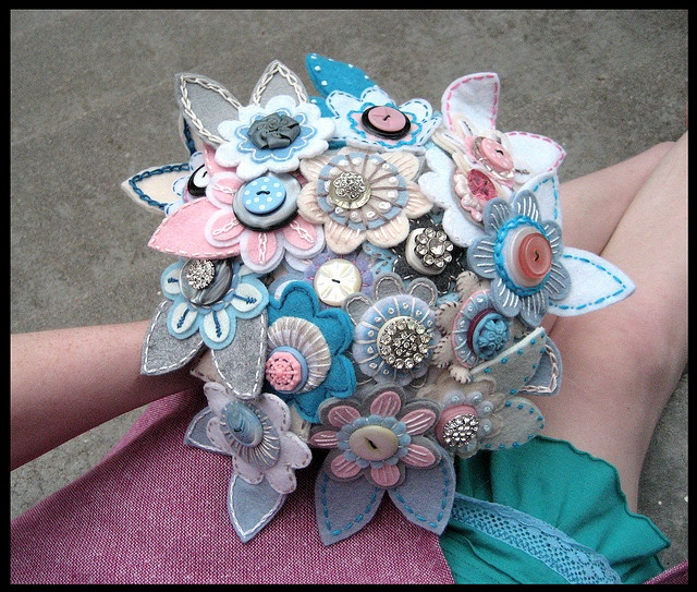 Fabric Flower Wedding Bouquet Tutorial: 17 Best Images About Craft Bouquets On Pinterest