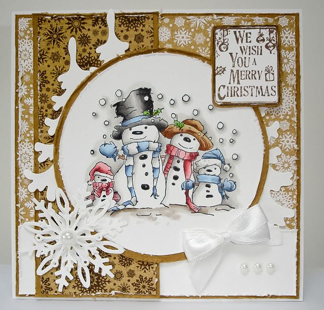 LOTV - Snow Family with Krafty Christmas Paper Pad and Cristmas Grungy Messages by Lorraine Bailey