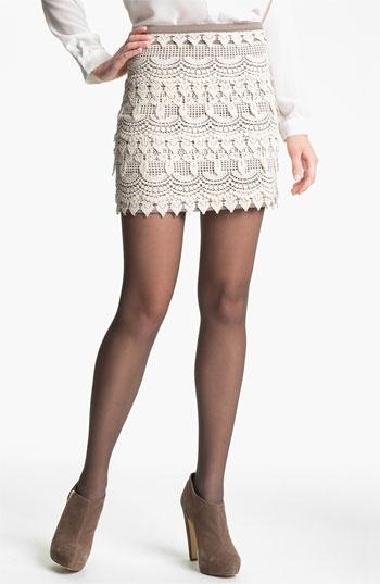 Lush Banded Crochet Skirt (Juniors) available at #Nordstrom