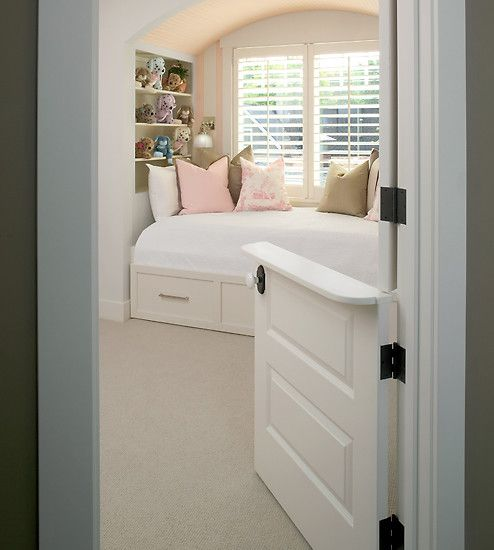 Love the half door! Great for toddler room where you could keep the top open (hear when they wake) and bottom stays shut as a gate.