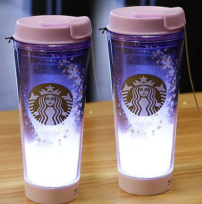 Starbucks KOREA 2017 Cherry Blossom LED Tumbler 355ml 2ea SET  | eBay