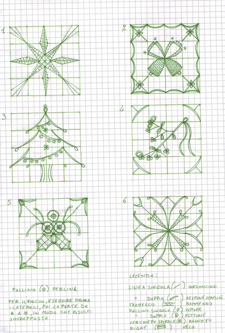 Reticello di Natale - pattern drawings