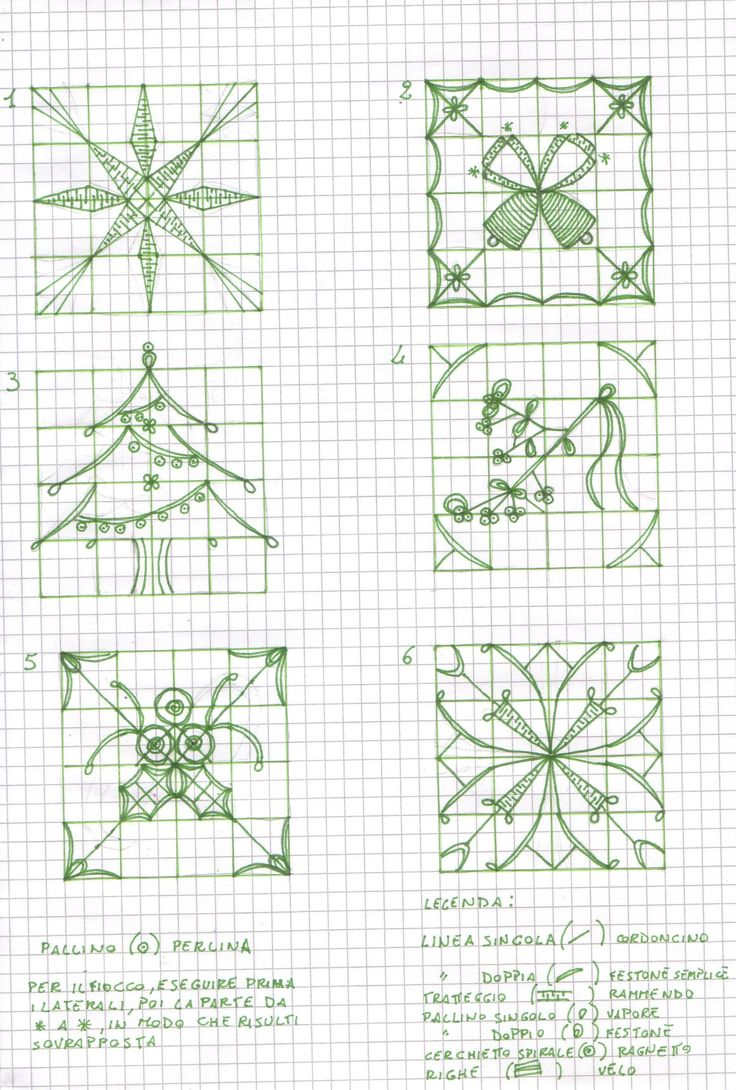 Reticello di Natale - pattern drawings