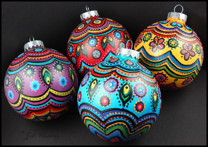 1000 ideas about painted christmas ornaments on pinterest for Painted glass ornaments crafts