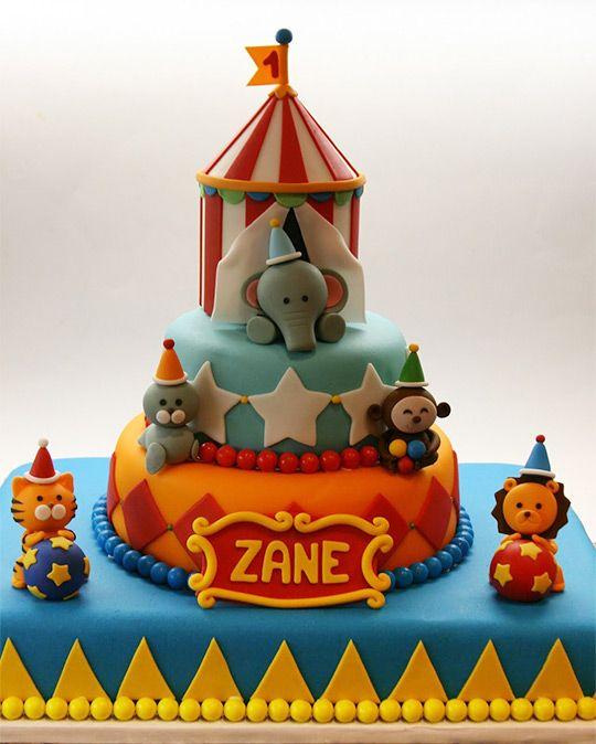 Circus tent taart