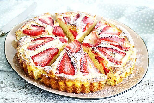 aardbeien kwarkcake airfryer