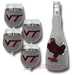Virginia Tech Wine Bottle Sox