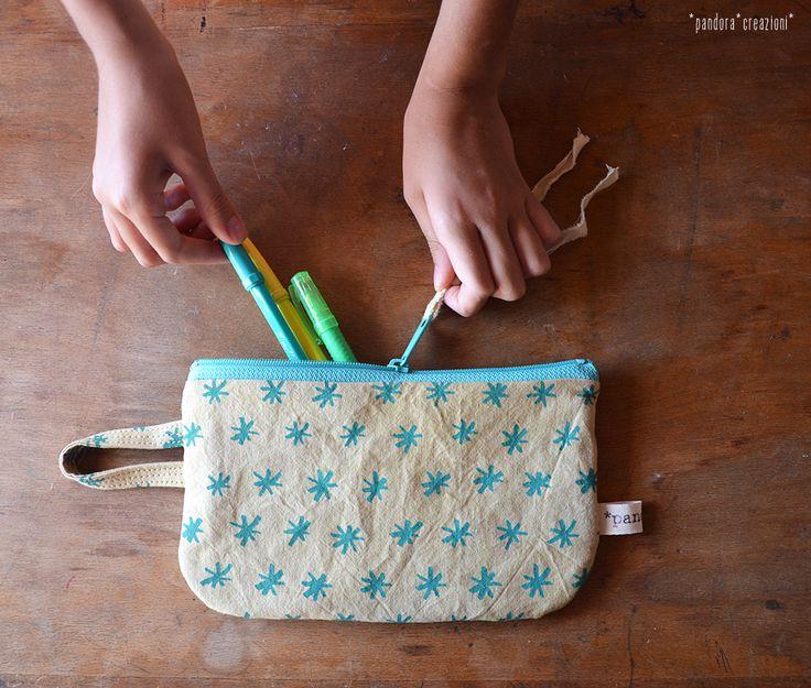 eco-friendly zipper pouch * pandora creazioni