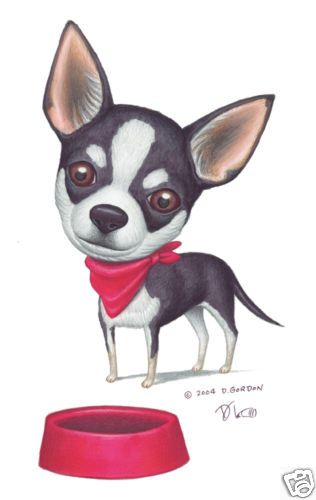Personalized Chihuahua Dog Art by Danny Gordon | eBay