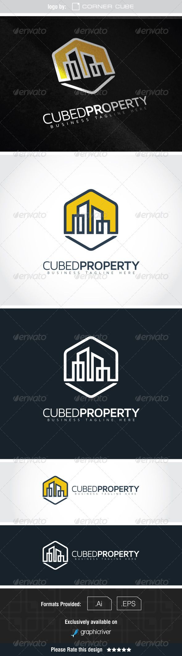 Cubed Property Logo — Vector EPS #hive #office • Available here → https://graphicriver.net/item/cubed-property-logo/7591686?ref=pxcr