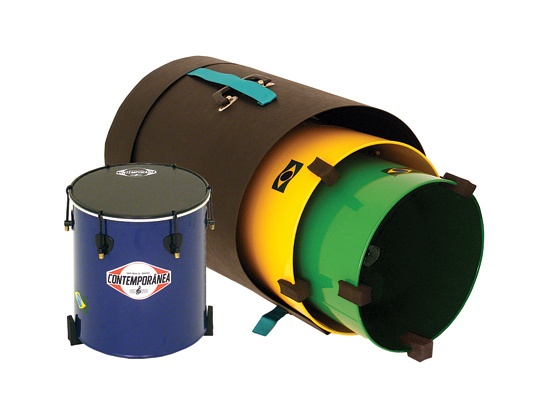 "Set of 12""/14""/16"" Free Standing Contemporânea Surdos with Feet & Hard Case (Nesting). Brazilian drumming kit."