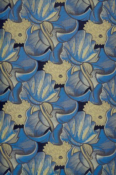 Art Deco L'Afrique Furnishing fabric - c. 1925 - Design by Robert Bonfils for Bianchini-Férier  - Woven silk - Victoria and Albert Museum Collection, London - @~ Mlle