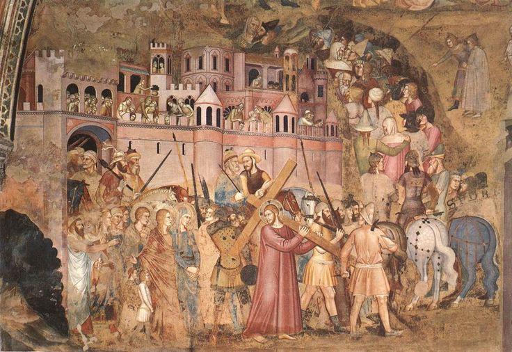 Andrea da Firenze - Bearing of the Cross, 1366-67, Fresco, Cappellone degli Spagnoli, Santa Maria Novella, Florence