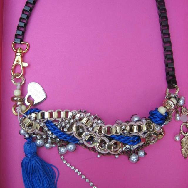 Electric blue tassel NecklaceBlue Tassels, Tassels Necklaces, Tassel Necklace