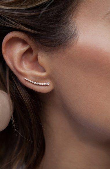 Leah Alexandra 'Astro' Ear Crawlers | Nordstrom. Minimalist woman jewelry | Minimalist silver accessories | Simple jewellery | Modern jewellery
