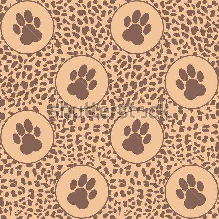Vector fondo de leopardo con patas