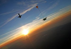 Tandem Skydiving experience days at Buyagift - skydive into an adrenaline pumping activity day!