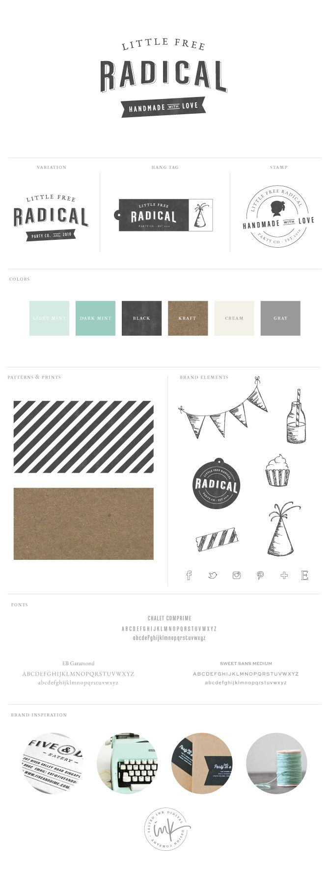 Brand Launch - Little Free Radical by Salted Ink Digital Design Co.