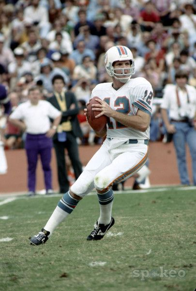 Miami Dolphins quarterback (12) Bob Griese