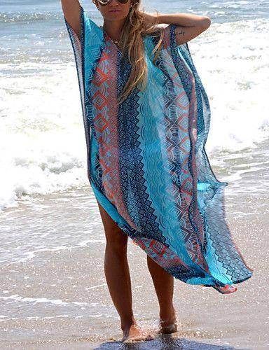 Damen Strandkleidung - Geometrisch Drahtlos Chiffon Halfter 4918122 2016 – €22.53