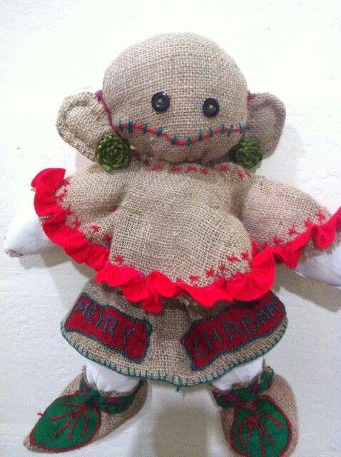 NOELI christmas rag doll / burlap doll