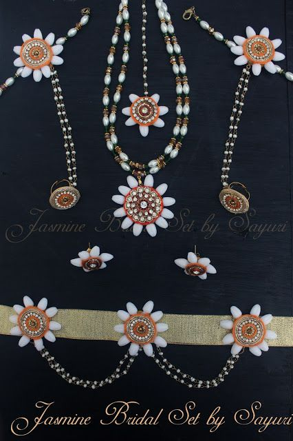 Jasmine flower jewellery for Pithi