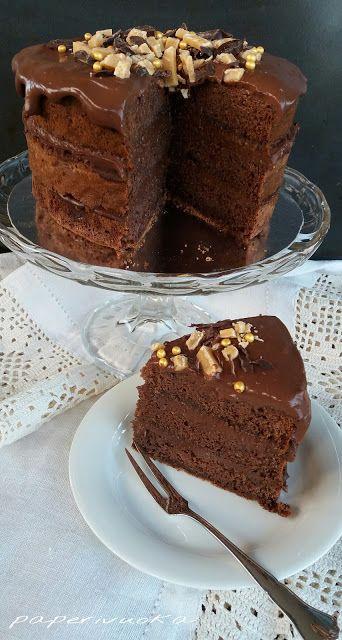 Paperivuoka: Suklaa nakukakku / Chocolate naked cake