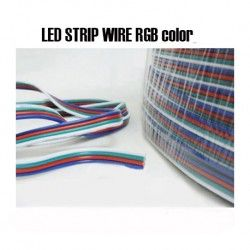 RGB 4-Pin Extension Cable Wire Connector Cord For 3528 5050 RGB LED Strip