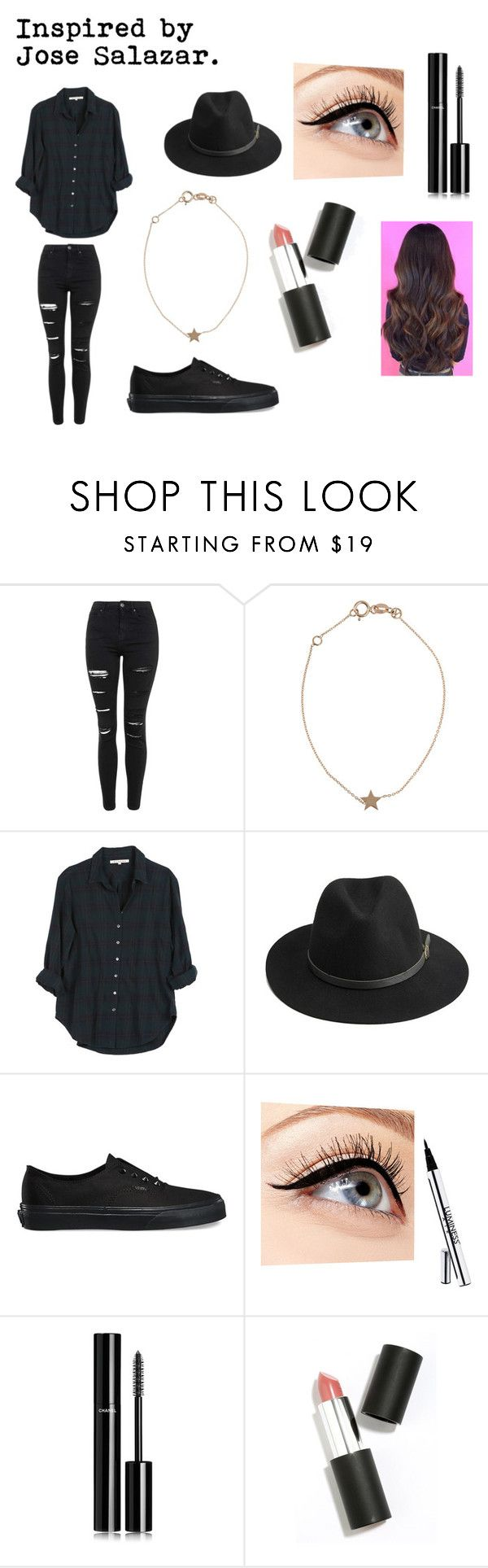 """Inspirado en pepeproblemas"" by marianasdavila on Polyvore featuring Topshop, Kismet, Xirena, BeckSöndergaard, Vans, Luminess Air, Chanel and Sigma Beauty"