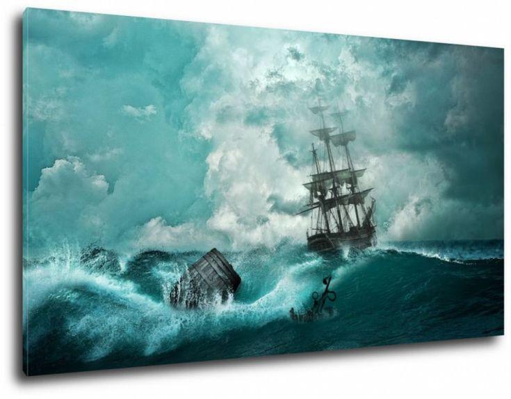 obraz wzburzone morze