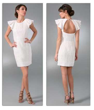 White-mini-dress: Fitted Dresses, Sleeved White, Wedding Dresses, White Mini Dress, Short Wedding, Box, Short White Dresses, Little White Dresses