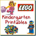 LEGO printable activities for math, reading, and writing.