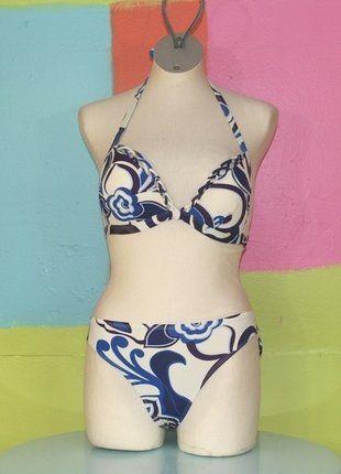 À vendre sur #vintedfrance ! http://www.vinted.fr/mode-femmes/bikinis/32043036-maillot-de-bain-push-up-motif-fleur-entelle-tm38-40-aubade-printempsete-ethnique-plagesexy