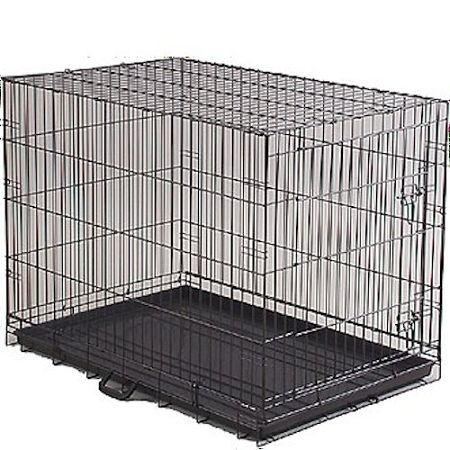 "Durable, black baked powder coated Pet Create finish with an extra deep 1 1/2"" pan. Keep your pets safe!"