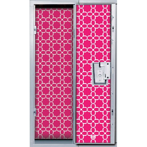 Outfit your school locker with personality using magnetic locker wallpaper in a girly pink-and-white floral pattern. This easy-to-use set from LockerLookz™ includes 4 pre-cut pink floral panels and 20 super strong neodymium magnets that hang your wallpaper panels in a matter of seconds. Each panel is sized to fit most standard size lockers. Custom perforations fit around hooks and locking mechanisms with ease. If panels need to be trimmed for smaller lockers, the back of the wallpaper has a…