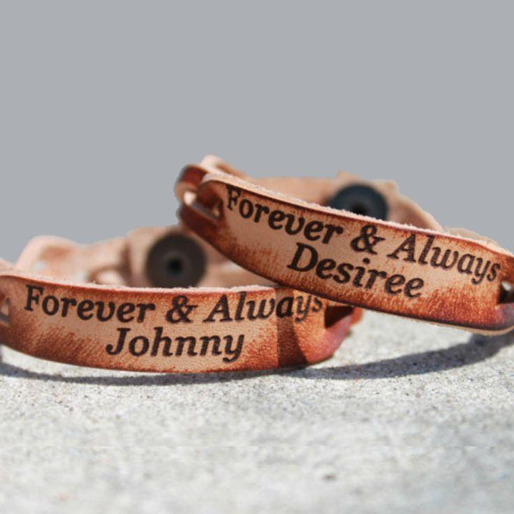 Forever & Always Custom Leather Bracelet