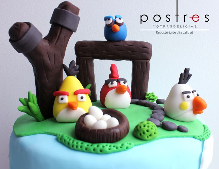 Torta Angry Birds #tortastematicas #fiestasinfantiles #angrybirds #postresyotrasdelicias