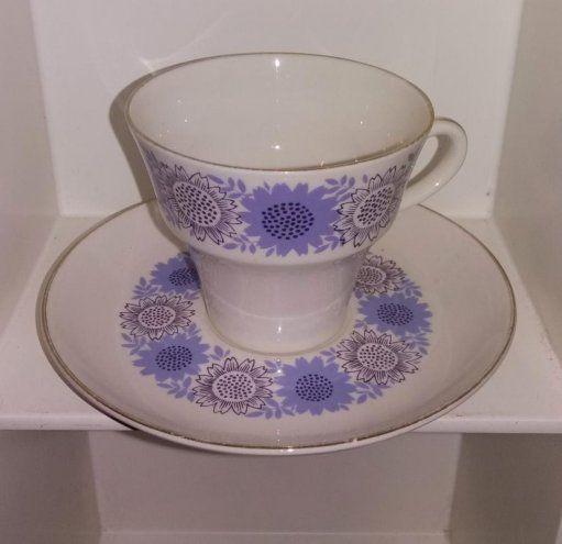 Arabia Heili lila kahvikuppi